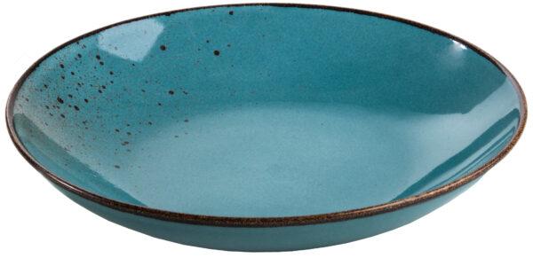 צלחת פסטה 26 × 5 ס״ם Turquoise Reactive Glaze Pasta
