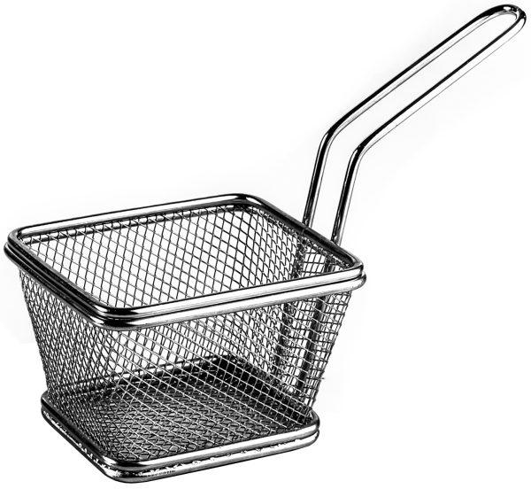 סלסלה ציפס נירוסטה מלבנית Mini French Fry Basket Holder