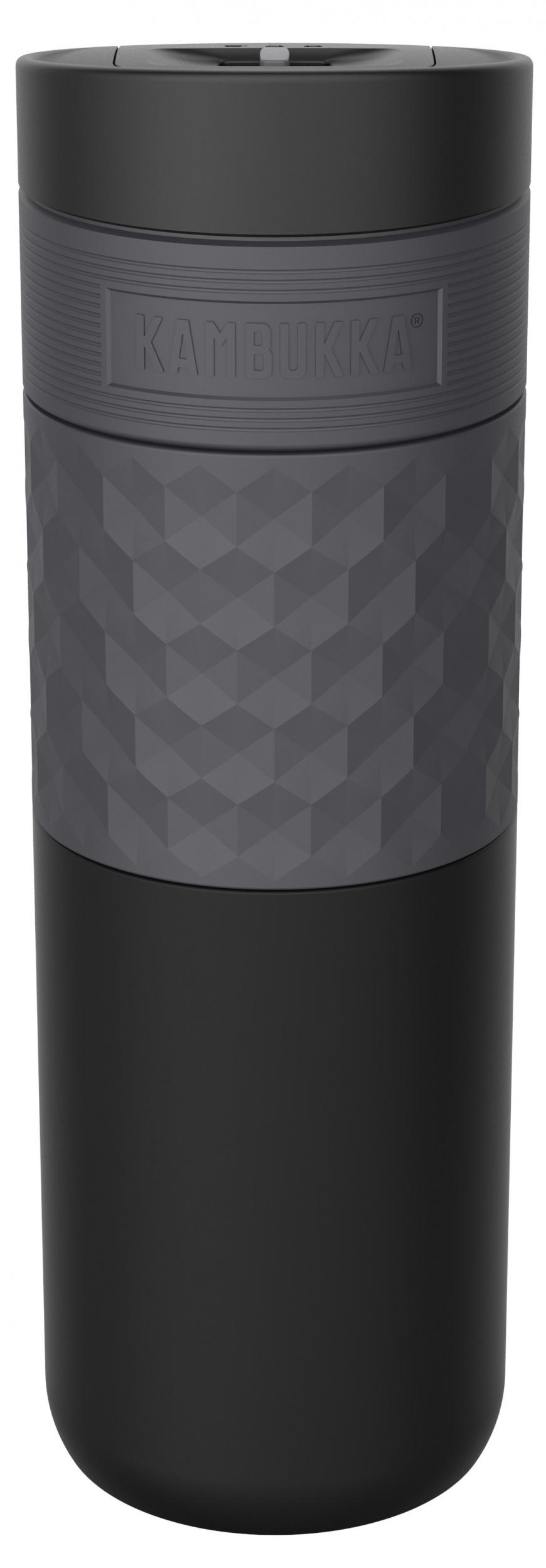 """בקבוק שתיה תרמי שחור 500 מ""""ל Black Steel קמבוקה Kambukka Etna Grip"""