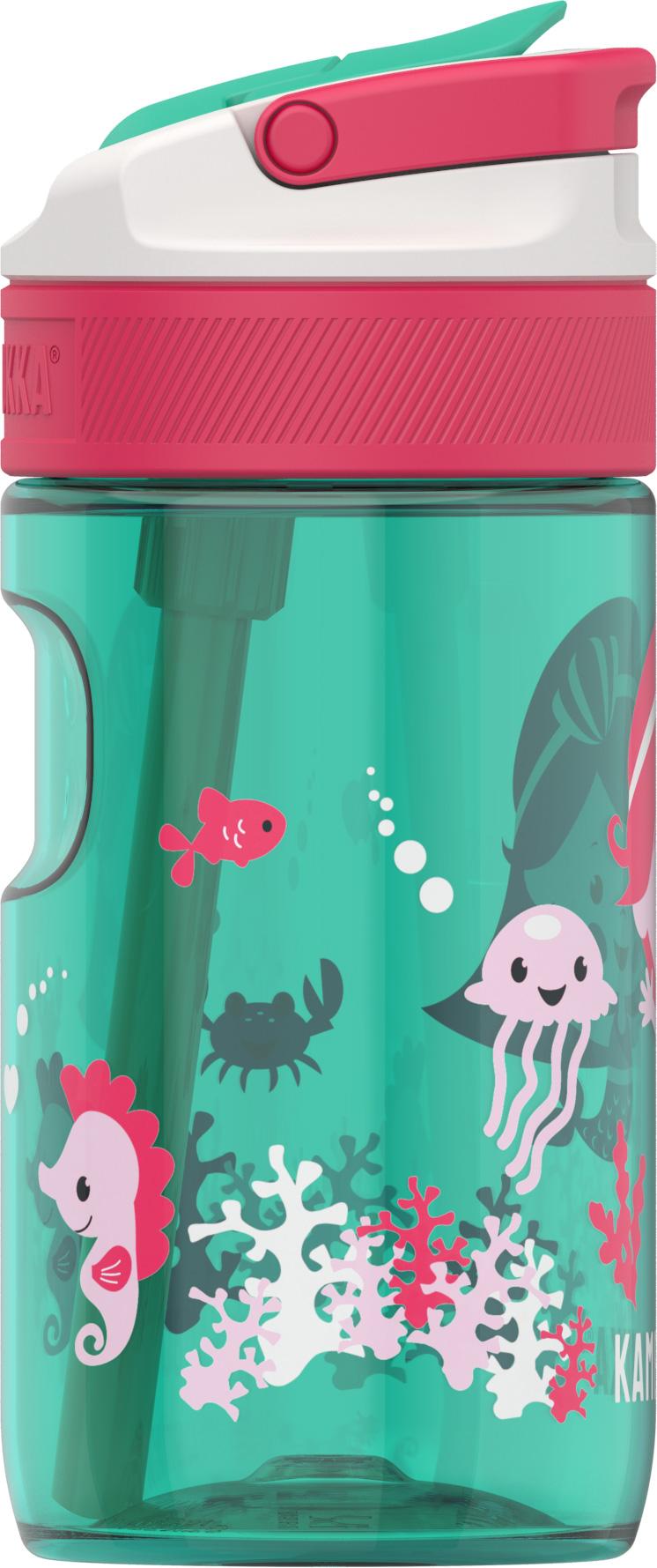 """בקבוק שתיה ילדים 400 מ""""ל ירוק Kambukka Lagoon Ocean Mermaid קמבוקה"""