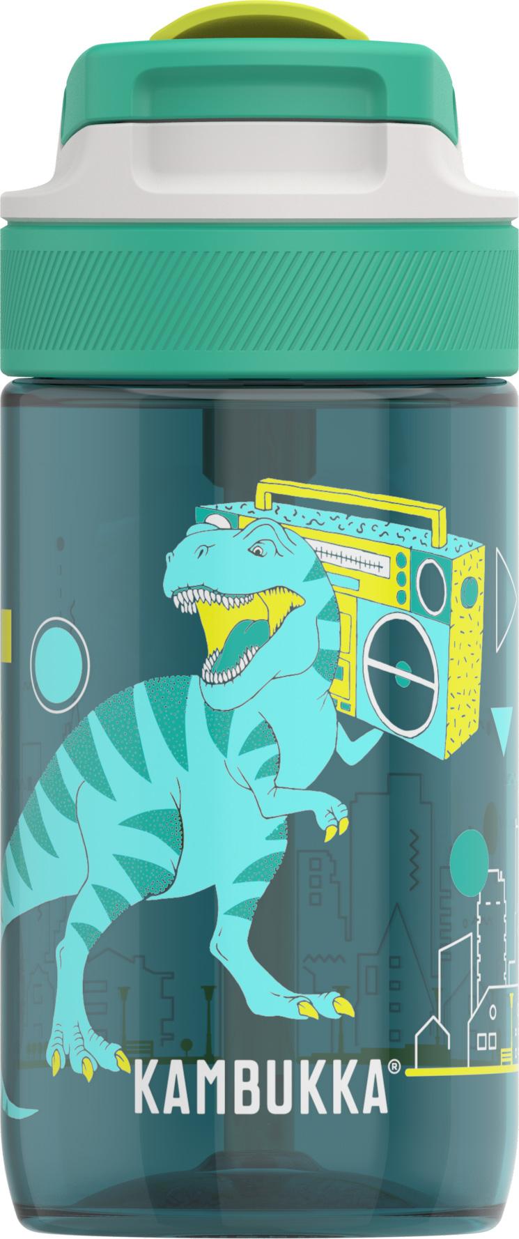 """בקבוק שתיה ילדים 400 מ""""ל ירוק Kambukka Lagoon Urban Dino"""