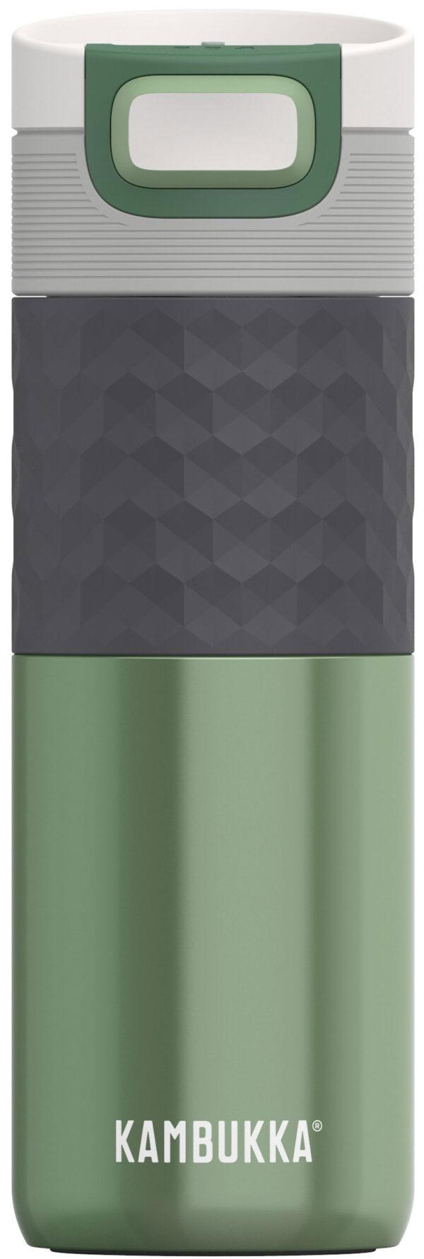 """בקבוק שתיה תרמי ירוק 500 מ""""ל Sea Green קמבוקה Kambukka Etna Grip"""