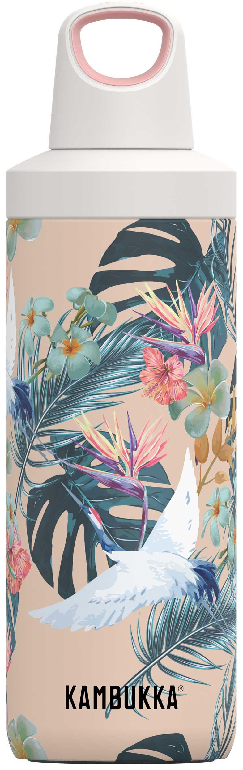 """בקבוק שתיה תרמי 500 מ""""ל פרחים קמבוקה Kambukka Paradise Flowers"""
