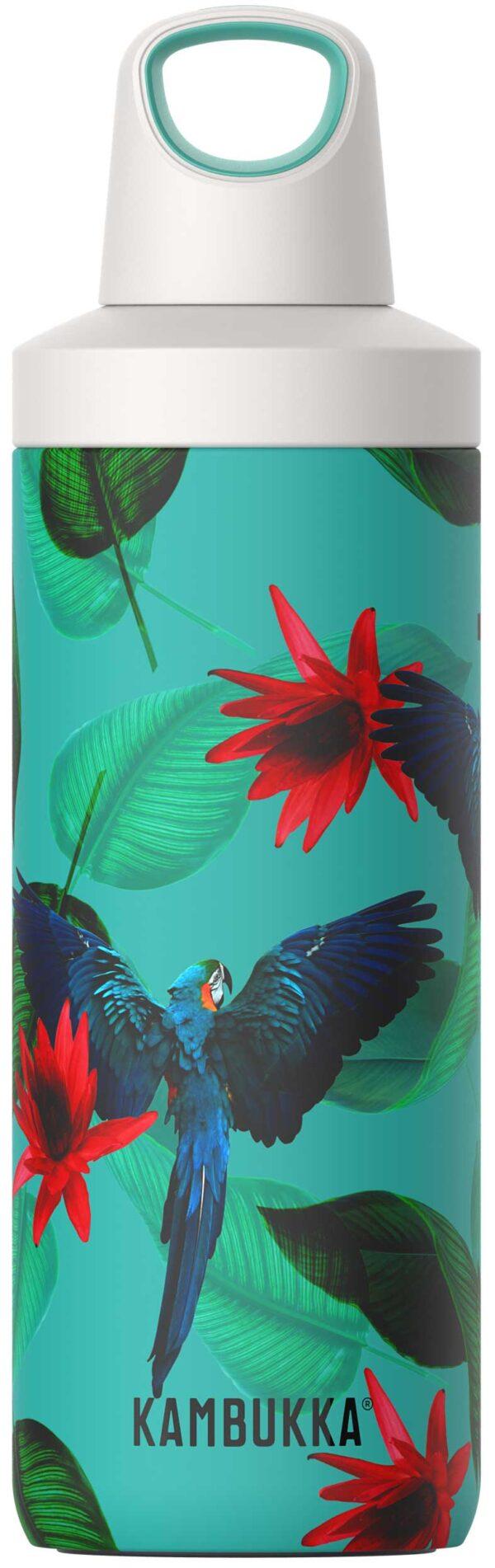 """בקבוק שתיה תרמי 500 מ""""ל תוכים קמבוקה Kambukka Parrots"""