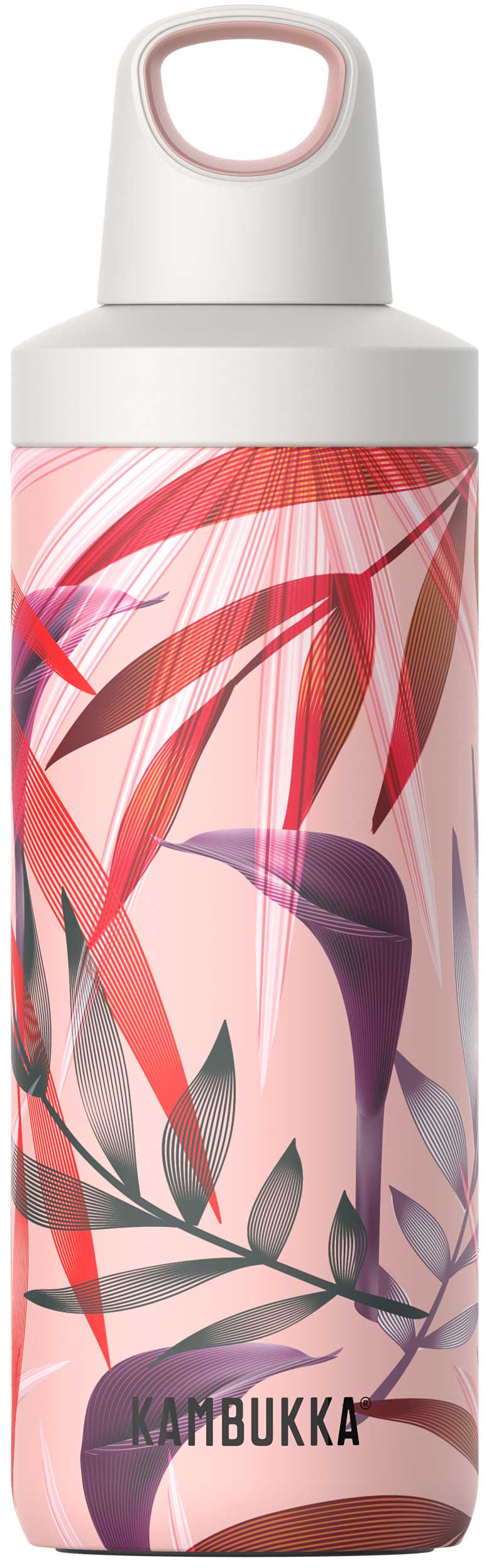 """בקבוק שתיה תרמי 500 מ""""ל קמבוקה Kambukka Trumpet Flowers"""