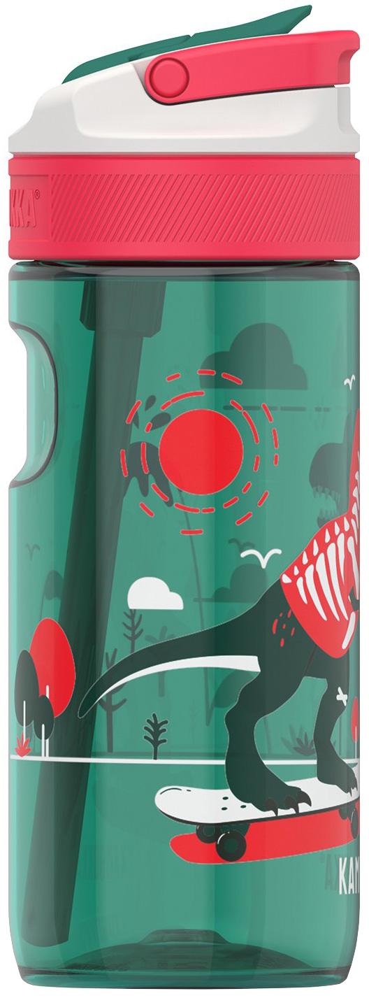 """בקבוק שתיה ילדים 400 מ""""ל ירוק Kambukka Lagoon Dino Boardflip קמבוקה"""