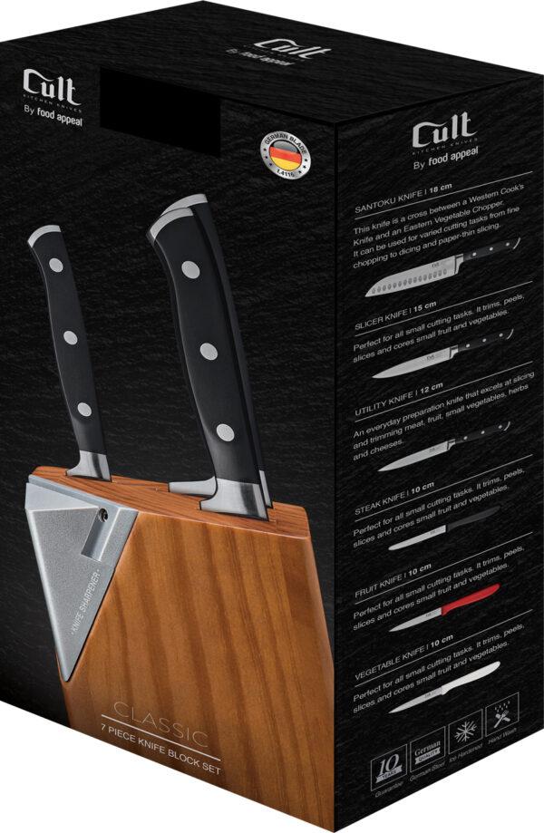 מעמד סכינים אוניברסלי עשוי עץ שיט Food Appeal Cult פוד אפיל