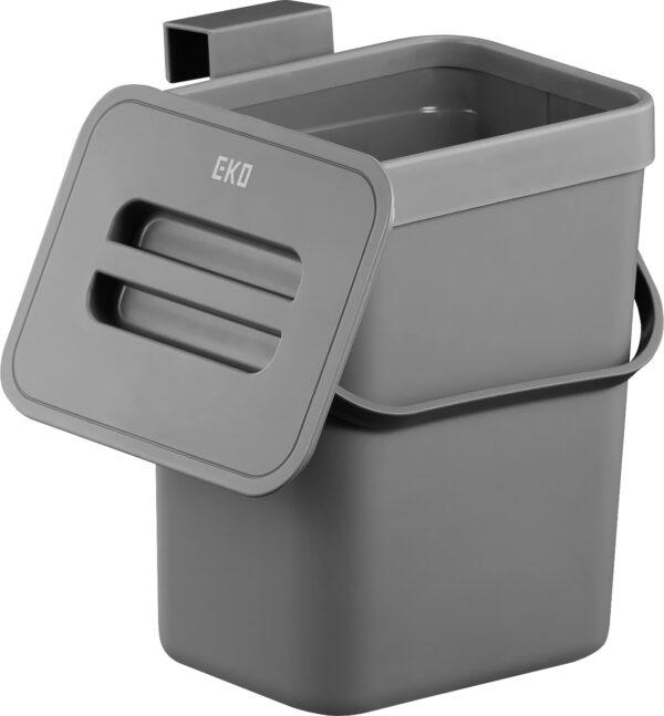 פח אשפה תלוי 5 ליטר Puro אפור Eko
