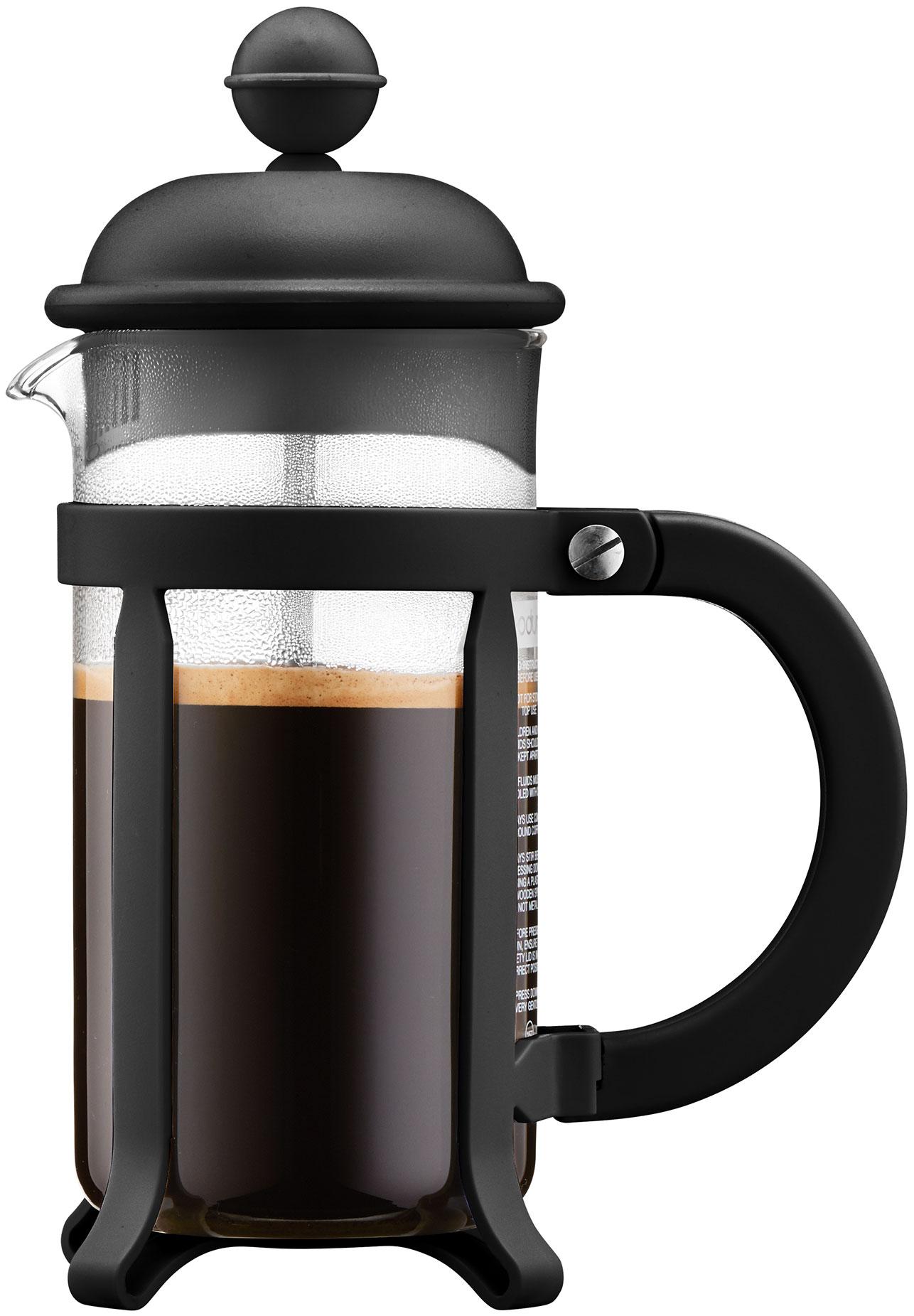 פרקולטור 3 כוסות מסדרת Java בגימור שחור תוצרת Bodum שוויץ
