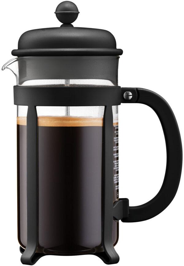 פרקולטור 8 כוסות מסדרת Java בגימור שחור תוצרת Bodum שוויץ