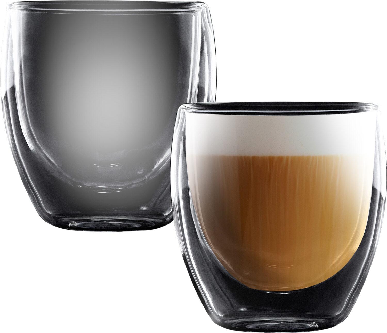"""סט 2 כוסות דאבל 250 מ""""ל Food Appeal Cappuccino Columbia פוד אפיל"""