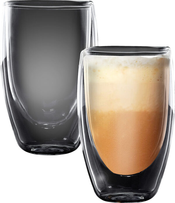 """סט 2 כוסות דאבל 400 מ""""ל Food Appeal Latte Columbia פוד אפיל"""