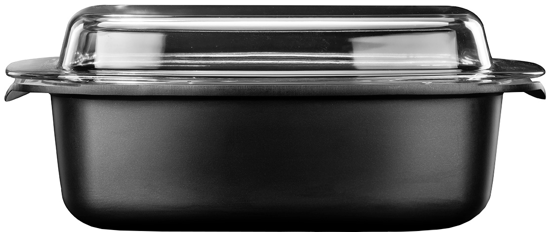 """רוסטר אינדוקציה עם מכסה זכוכית 11 × 21 × 32 ס""""מ 5.5 ליטר Black Marble"""