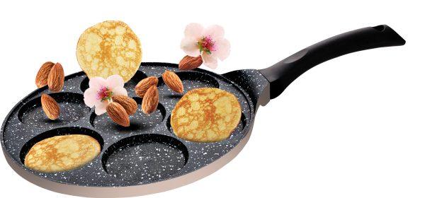 """מחבת פנקייק קרם 7 שקעים 26 ס""""מ Food Appeal Black Marble פוד אפיל"""