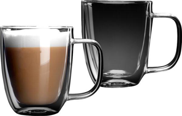 """סט 2 כוסות זכוכית דאבל 480 מ""""ל Food Appeal Latte Ethiopia פוד אפיל"""