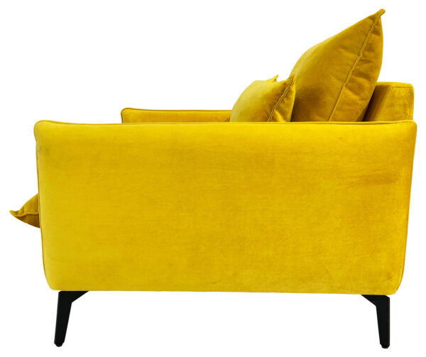 כורסא בוסטון בגוון חרדל זהוב