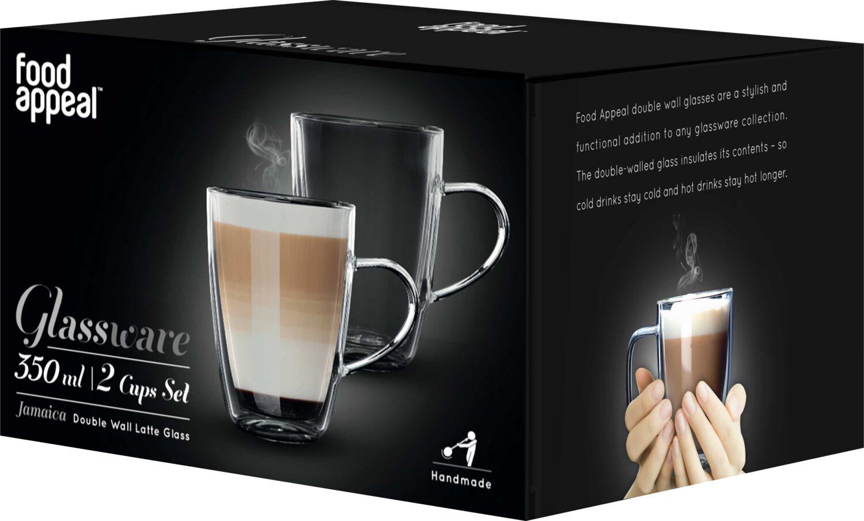 סט 2 מאגים 350 מ״ל Food Appeal Latte Jamaica פוד אפיל