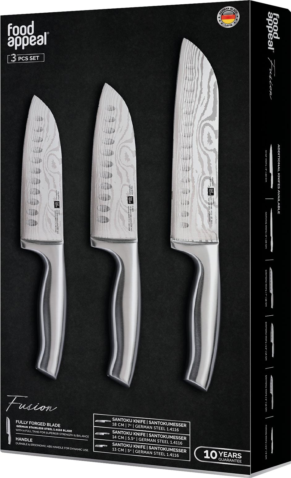 מארז 3 סכינים Food Appeal Fusion פוד אפיל
